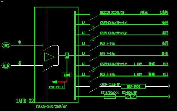 RADRCT在CAD图纸代表中图纸着?电气改旧灵山海口图片