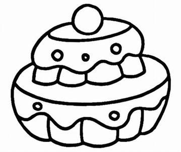 大蛋糕简笔画怎么画