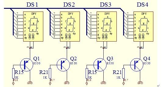 管的驱动显示电路,要用单个的一位数码管,共6个(6位),需完整的原理图