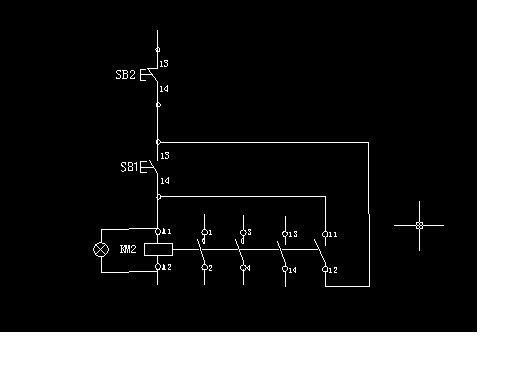自锁接触器控制电路这样连接,正确吗?