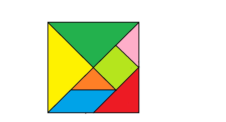 七块怎么摆成正方形