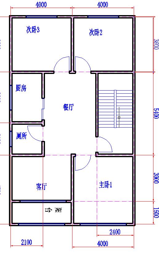 本人不是搞建筑的,自己设计的房屋图纸,南北12米,东西图片