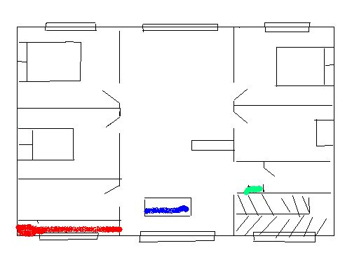 急求! 农村房四室一厅设计图 我想设计一个简单的农村房.一层.