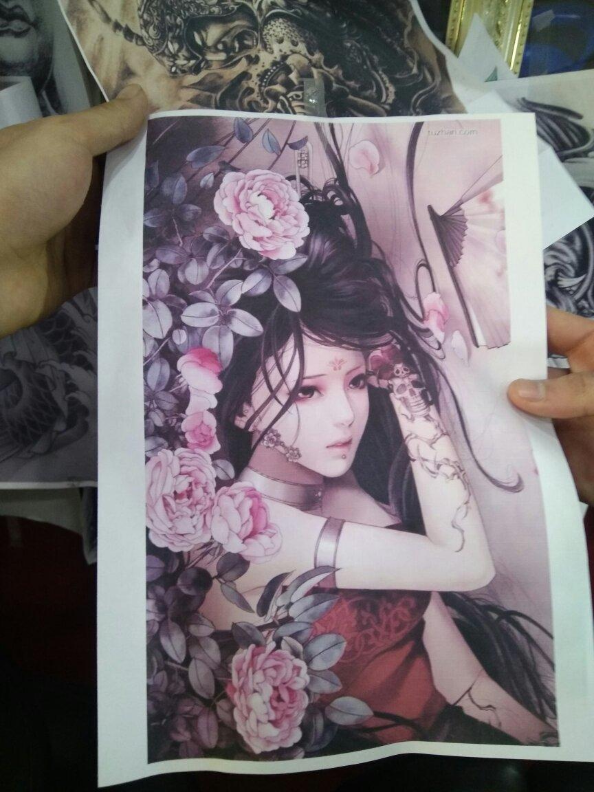 求一张艺妓的纹身手稿,或者有我这个图片的原图图片