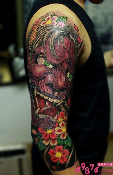 有哪位朋友知道这个般若花臂纹身纹要多少钱?图片