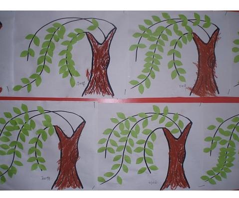 柳树怎么画