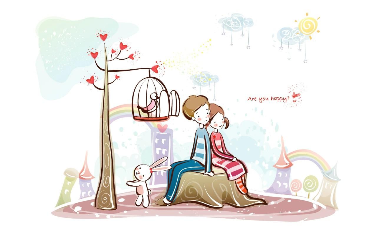 超级可爱的爱情浪漫卡通图片,要是可以作为墙纸的