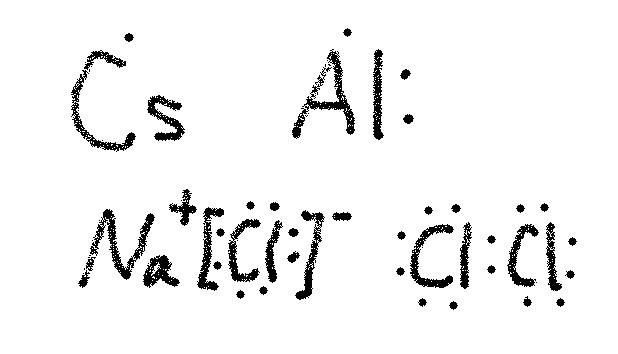 铯原子,铝原子,氯化钠和氯分子的电子式怎么写图片
