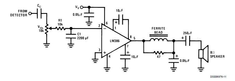 求单片机驱动喇叭电路(用lm386放大)