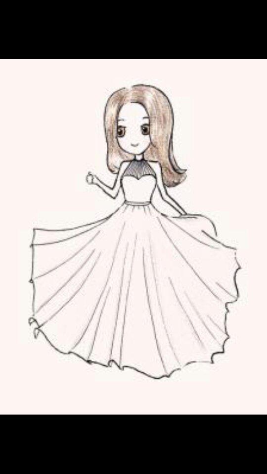 婚纱简笔画
