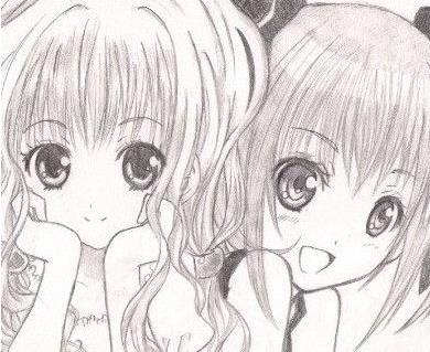 动漫 简笔画 卡通 漫画 手绘 素描 头像 线稿 390_319