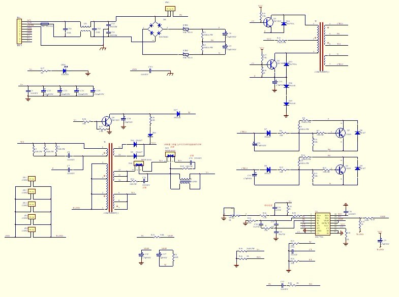 怎样用一个高频变压器设计一个pwm开关电源?把原理图设计出来,发给我.