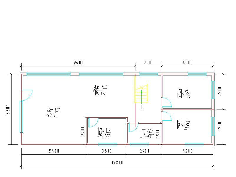 求六米宽十二米长复式建筑设计图图片