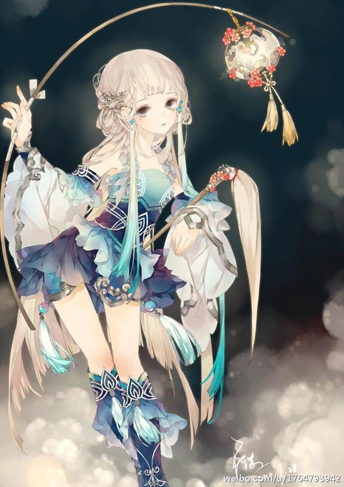 中国风动漫少女衣服怎么画