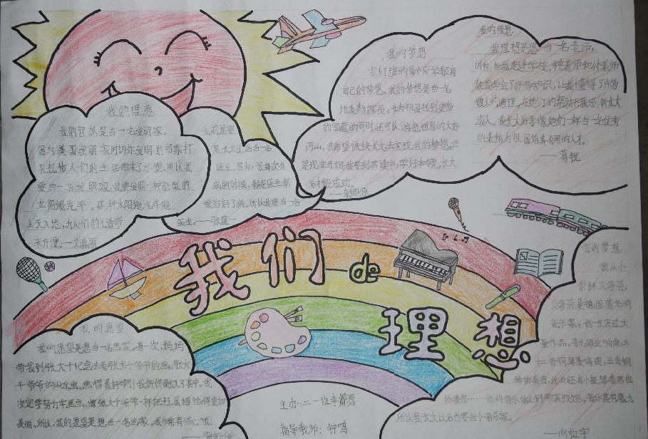 我的理想 老师的手抄报图片