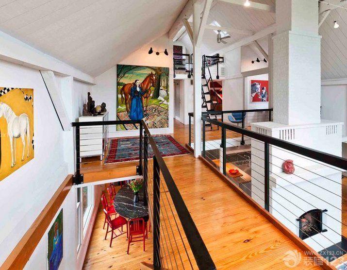 二层别墅斜顶阁楼设计效果图图片
