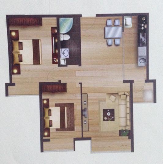 求装修设计图,93平米两室一厅的,简约现代风格的,最好