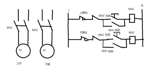 求卷闸门电机接线图,是220v供电带2个继电器的那种求大神帮助