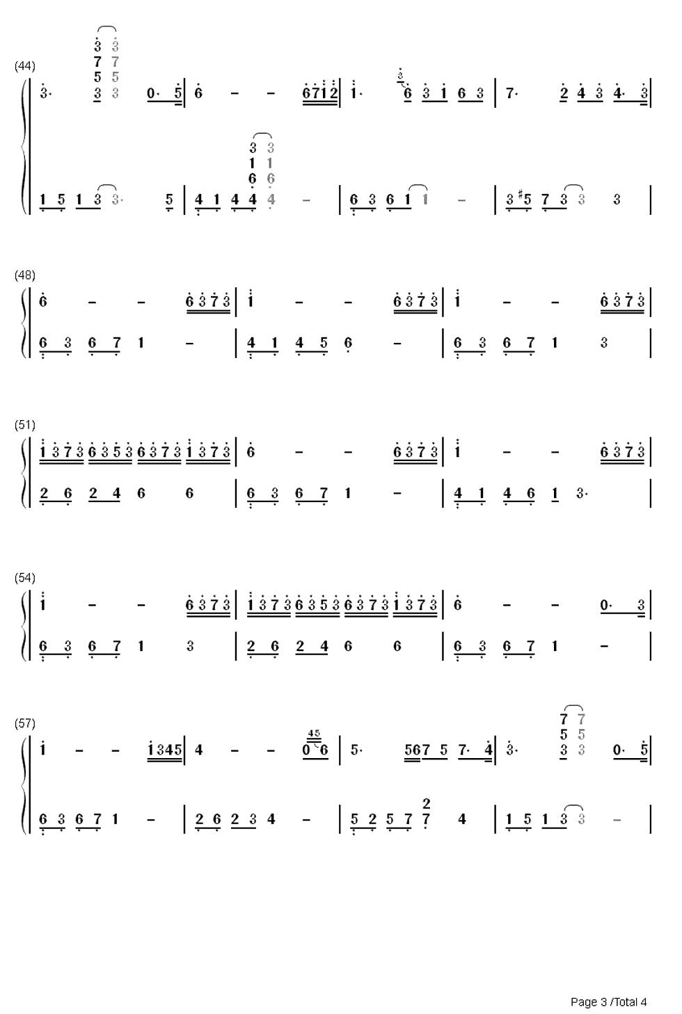 求tears眼泪钢琴曲的双手简谱(全的简谱)图片