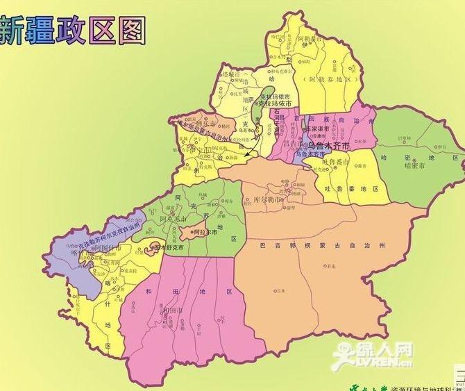 新疆地理地图