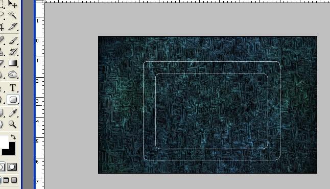 ps图片中方框效果是怎么做出来的