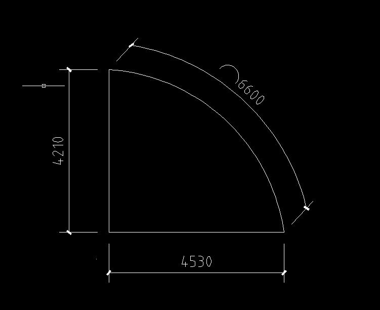 知道CAD两弧线边,画一条已知长度的直角cad图全层关图片