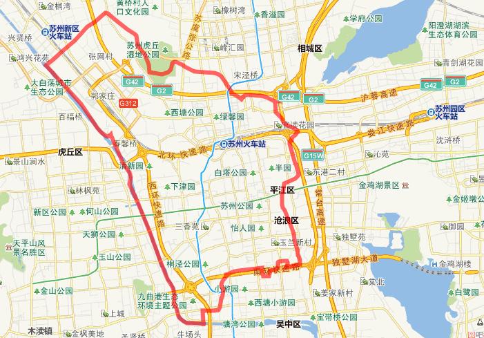 苏州地图简笔画