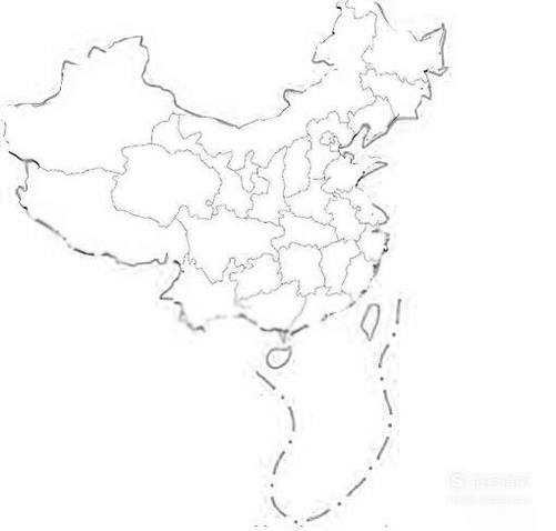 怎么画中国地图简笔画?