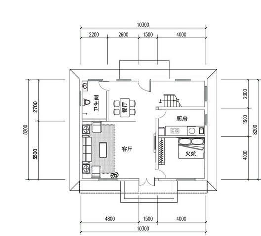 6米×13米房子设计图