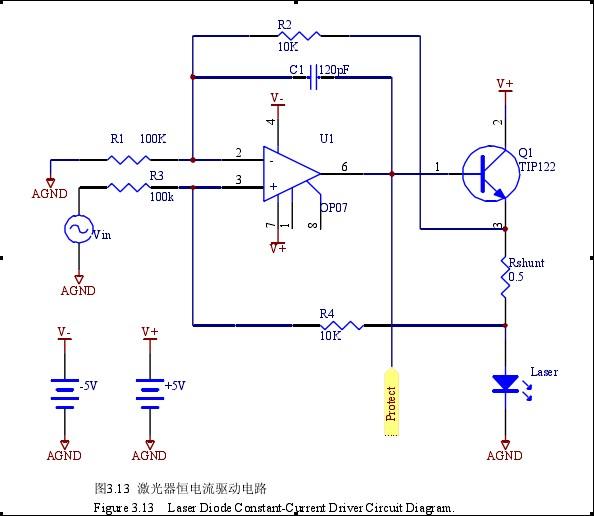 ld激光器恒流驱动电路 图中三极管什么作用啊?