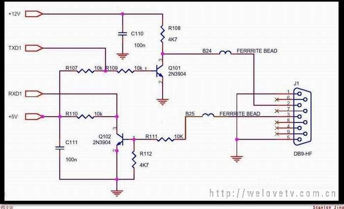 跪求usb转ttl 分立元件-电路图