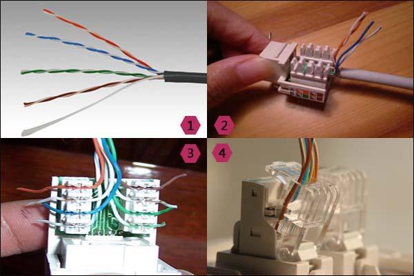墙壁网线插座接法图解,网线插座怎么接线