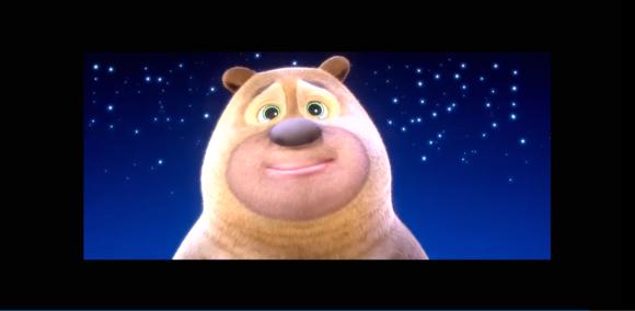 谁有熊二在雪岭熊风里星空的小时候的图片,最好可以用