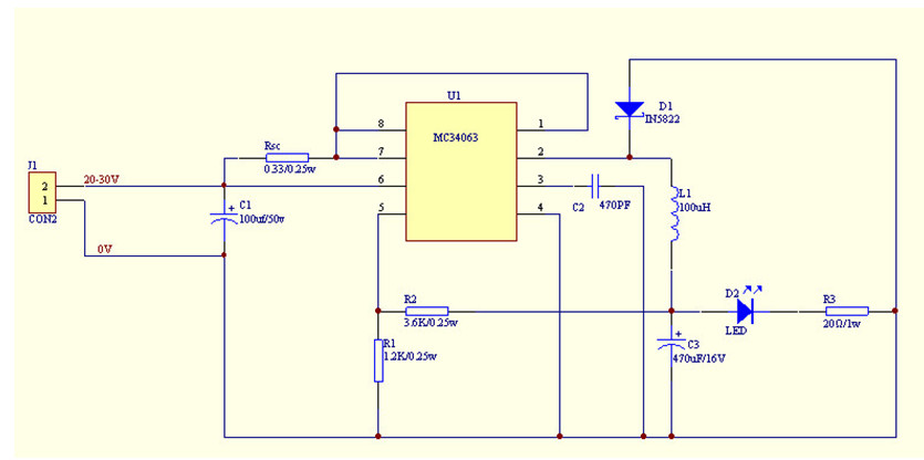 mc34063降压电路负载发热问题