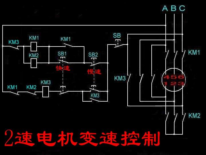 谁知道双速电机怎么接呀 帮帮忙画个图