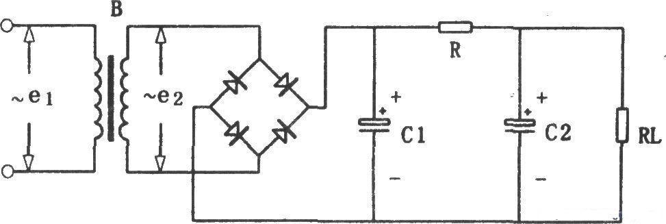 电工题:分别画出桥式整流电路加电感滤波,lc-π型滤波