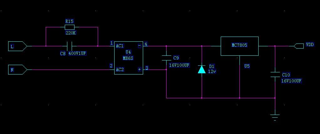 用阻容降压,然后用稳压二极管和三端稳压器稳压,但是这样的电路不