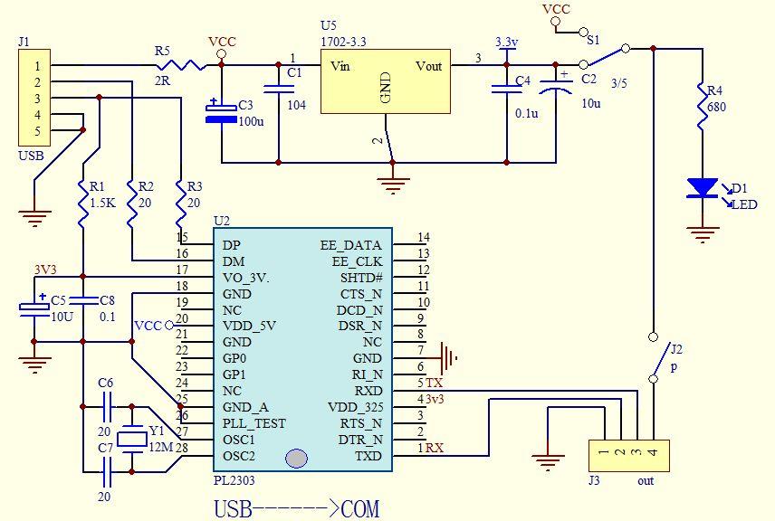 stm32烧录电路