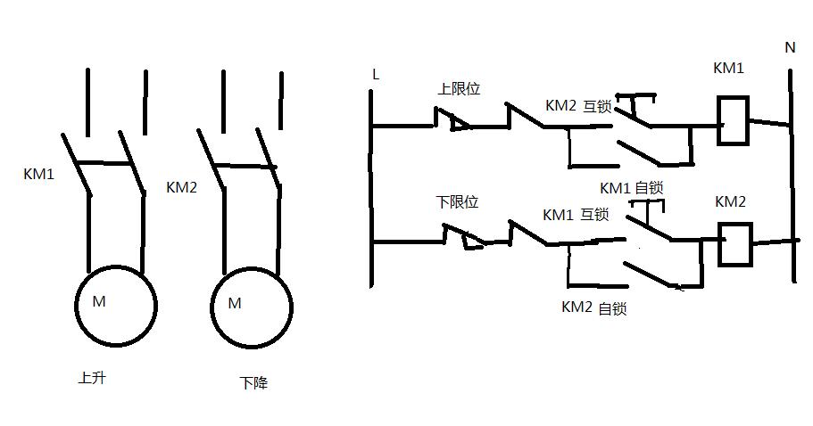 怎么用继电器控制卷闸门