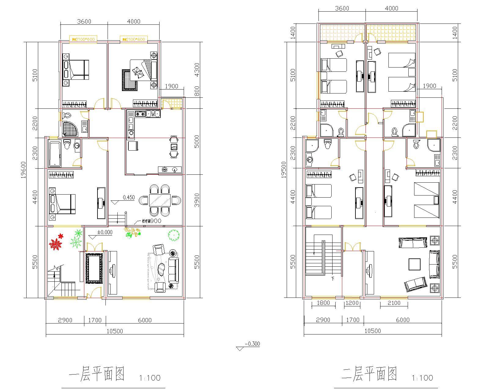 盖房子设计图 我有长20米 宽8米地基 想盖两层房子,二