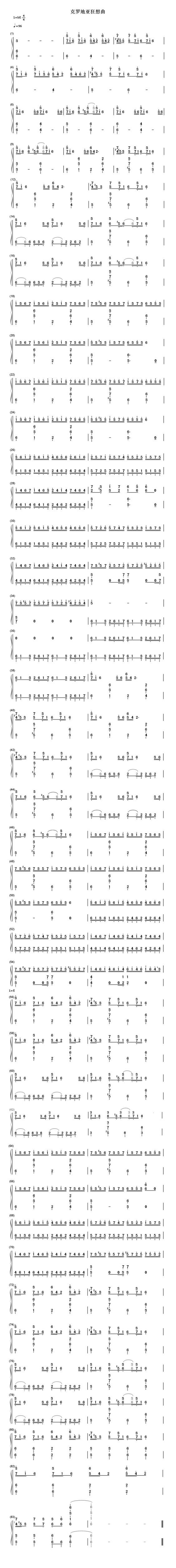 求克罗地亚狂想曲主旋律简谱,直接回答简谱数字就好,万分感激