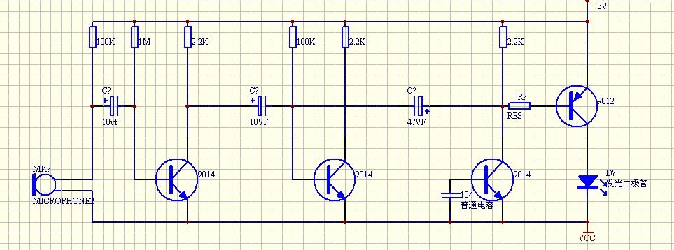 12v声控灯电路图