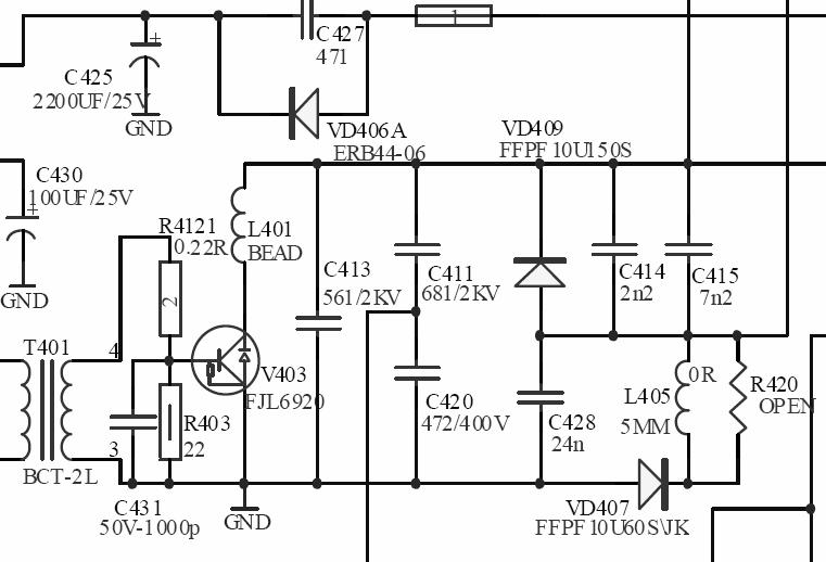 海信hdp2908n电路图 或者告诉我c413的型号规格也行