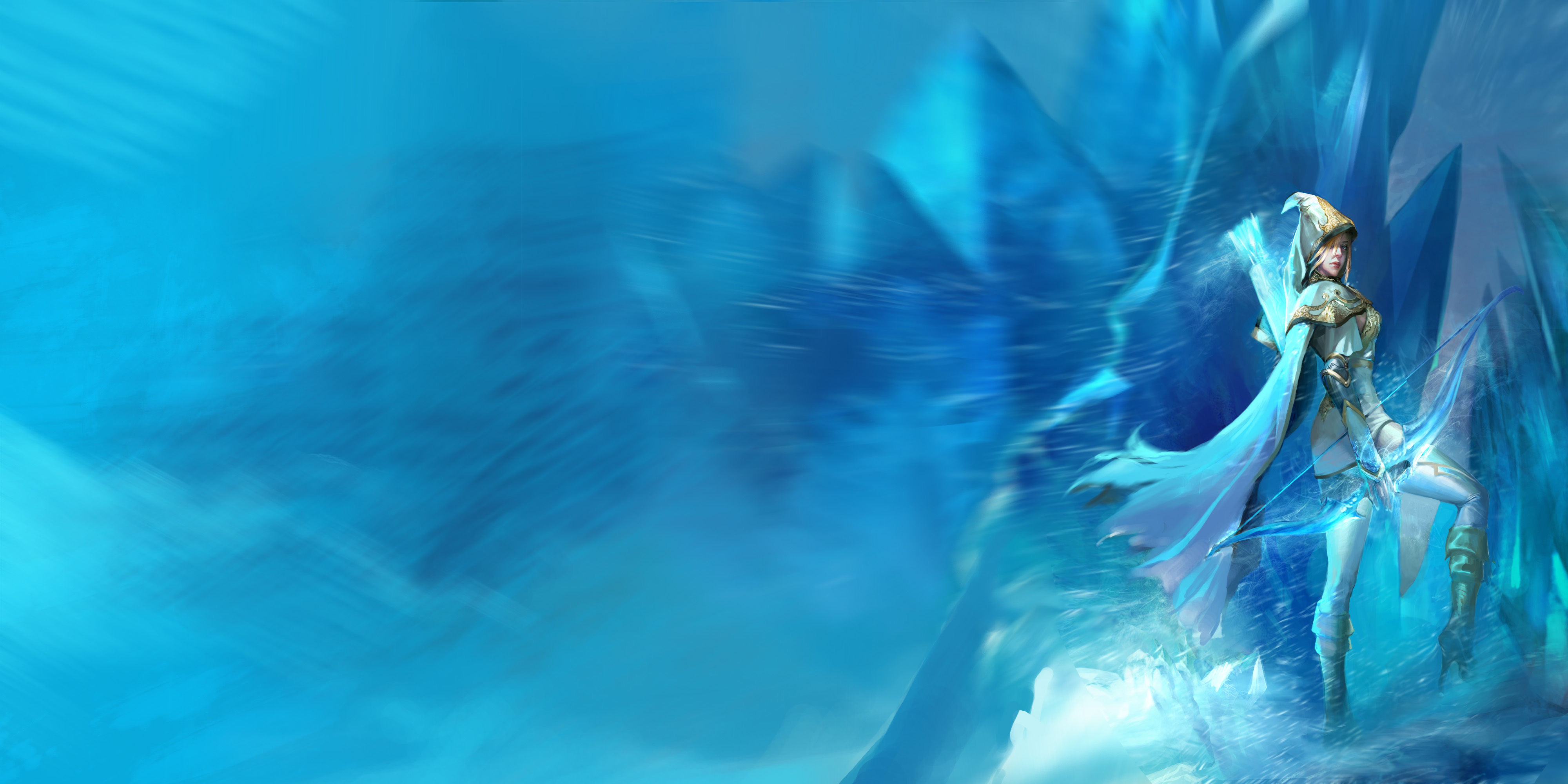 谁有英雄联盟寒冰射手,极地女神皮肤高清原画壁纸?