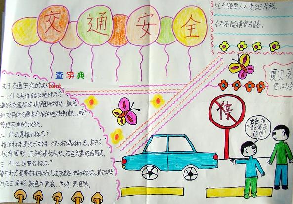 六年级关于交通安全的手抄报内容图片