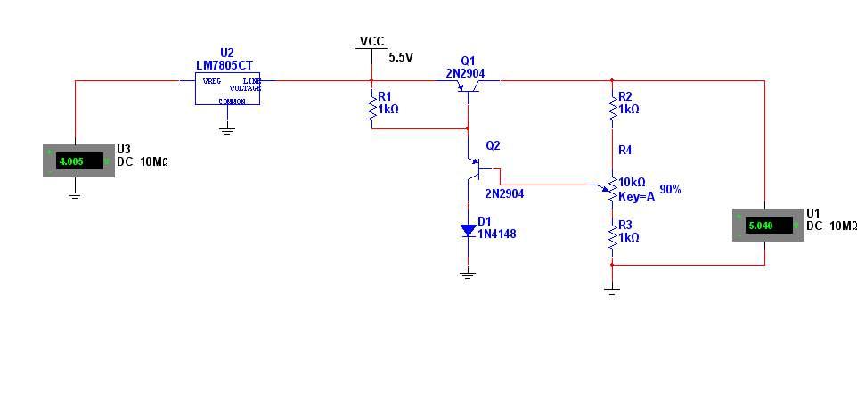 5v低压差稳压电路