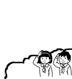 小学生向国旗敬礼怎么画