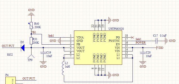为什么ti(tps63020)升压芯片输出只有2.3v