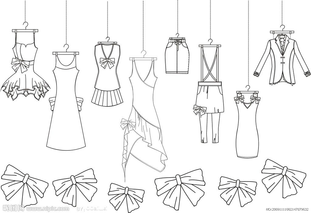 服装设计的效果图及平面图是啥?