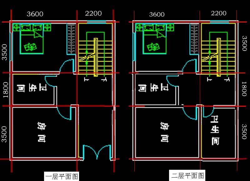 自建宽6米,深8米房屋方型设计图图片